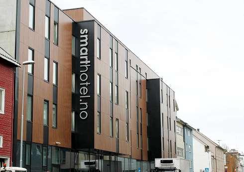 Fasadskiva, Fasadlaminat, LamiFacade, Smart Hotel, Tromsø, Lamiroc.